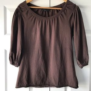 BCBGMaxAzria Brown Women's Top, 3/4 Sleeve, M